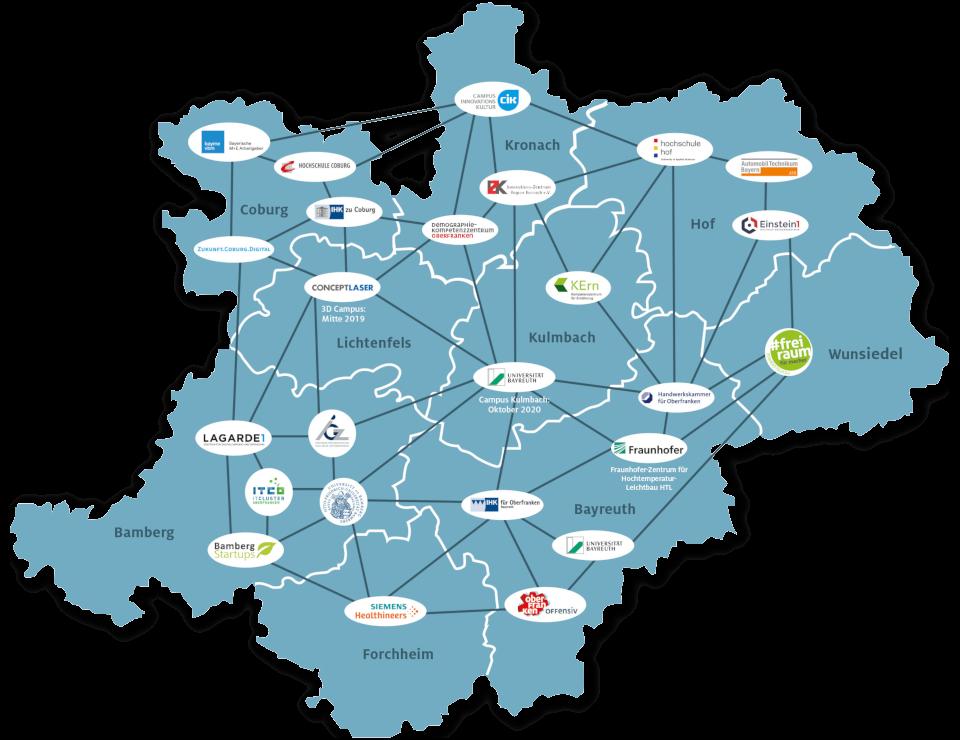 Karte Bamberg Landkarte.Wirtschaft Oberfranken